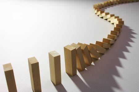 Domino effect Stockfoto