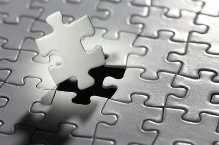 Illuminated puzzle piece  horizontal  Stockfoto