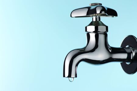 Water tap with drop.(horizontal)