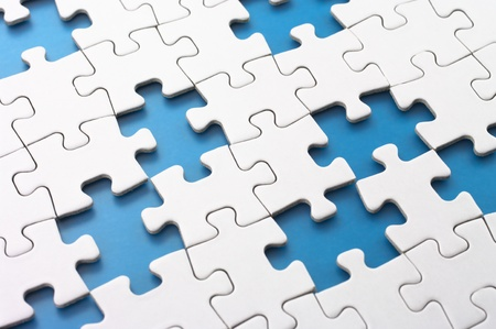Missing puzzle pieces Concept image of unfinished task Stock Photo - 18012993
