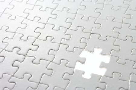 piezas de puzzle: Última pieza que faltaba del rompecabezas Concepto de imagen de tarea pendiente y punto de concluir