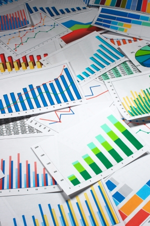 Many graphs   vertical Stock Photo - 20306990