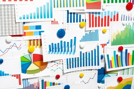 bar magnet: Sticking up many graphs and charts