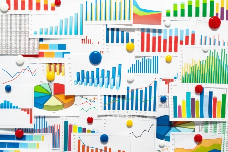 Many graphs and charts Stock Photo - 21599308