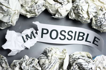 possibility: Discovering the possibility  Concept image of making the impossible  Stock Photo
