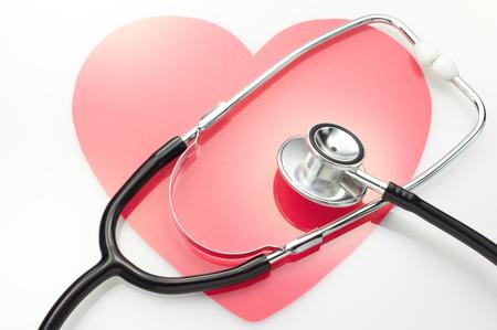 Health checks  Heart and stethoscope  Stockfoto