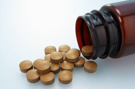 pilule: Derramada suplemento Primer plano de suplemento