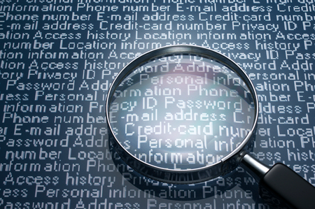 personal data: Sneaking a look at personal information  Magnifier and personal information