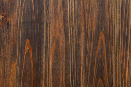 高齢者のウッド テクスチャ背景。暗い茶色の木製パネル。縦の穀物。