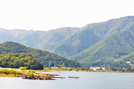 河口湖 写真素材