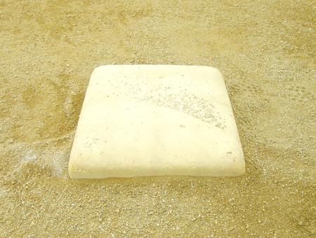 infield: baseball field at third base