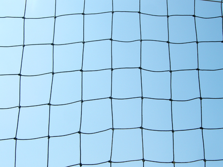 soccer net: soccer net over blue sky Stock Photo