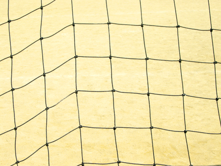 soccer net: soccer net over the ground