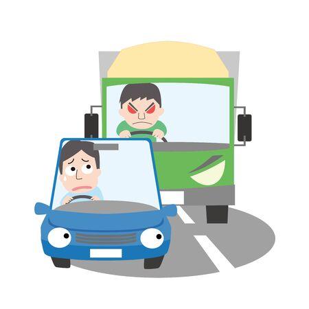 Illustration d'image de la conduite aori et de la conduite dangereuse