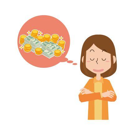 A woman who wants money