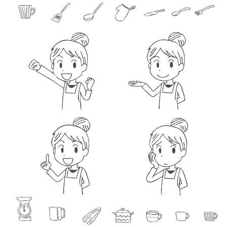 Women's apron Иллюстрация
