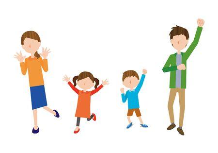 Happy Family Ilustração