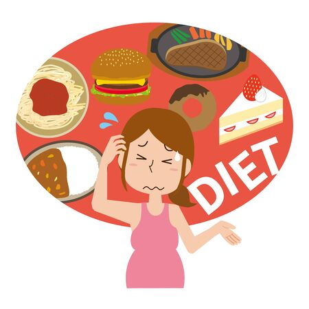 Women on a diet with diet restrictions