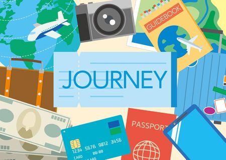 Illustration of world travel