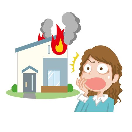 a woman whose home caught fire