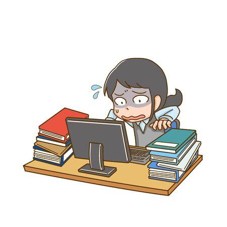 a female company employee of hard work