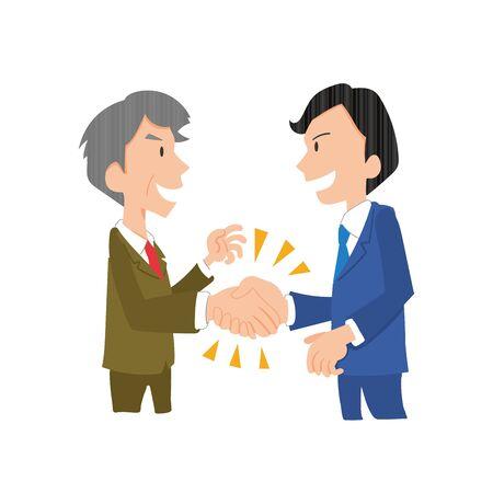 a company employee who shakes hands