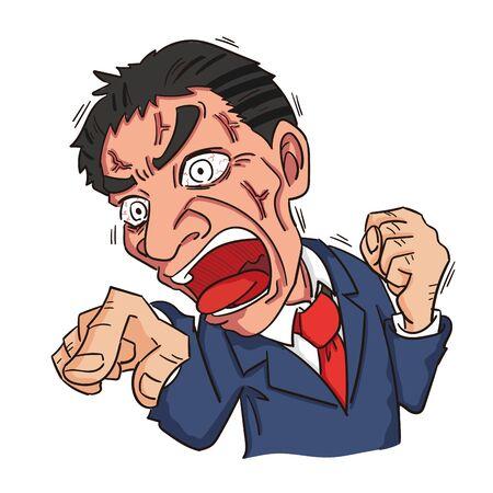 furious male company employee