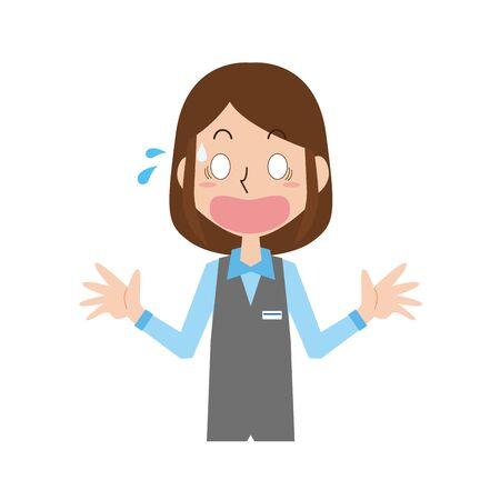 Surprised receptionist