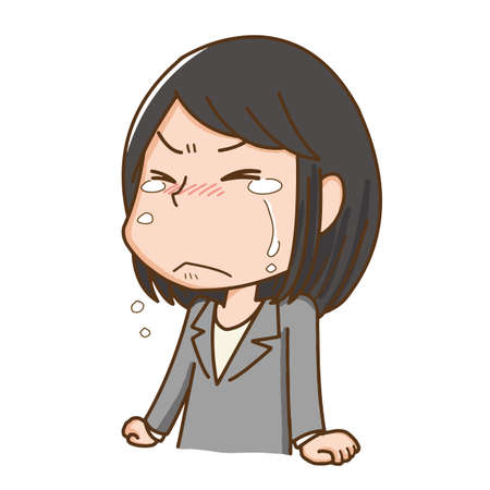 A woman who cries with regret  イラスト・ベクター素材
