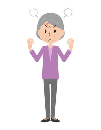 Angry Grandmother Vettoriali