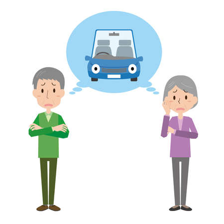 elderly Couple  worried about driving