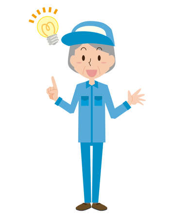 Senior female worker  イラスト・ベクター素材