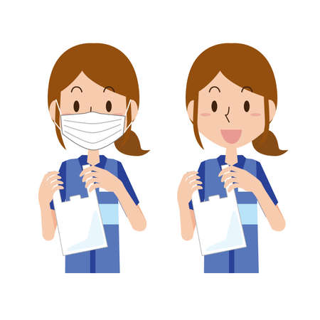 Image illustration of the cash register bag fee  イラスト・ベクター素材
