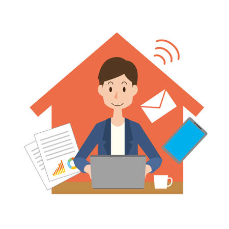 Image illustration of work from home