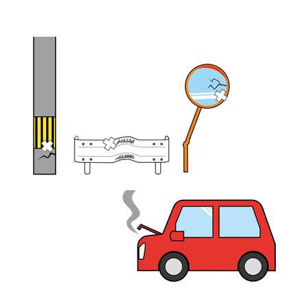 Illustration of a damage accident Illusztráció