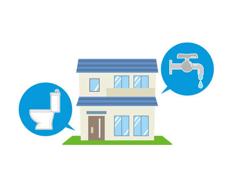Residential water Vecteurs