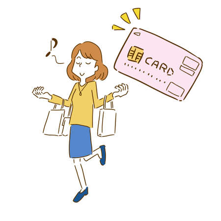 a woman who enjoys shopping with a credit card