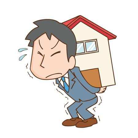 a man who endures the burden of a mortgage