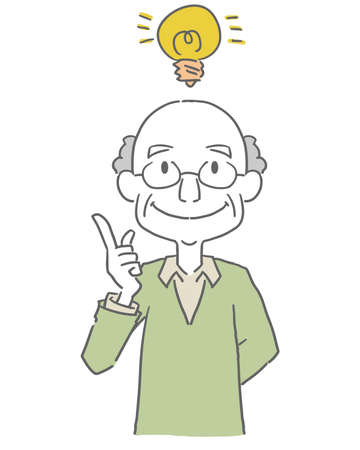 An elderly man who comes up with an idea