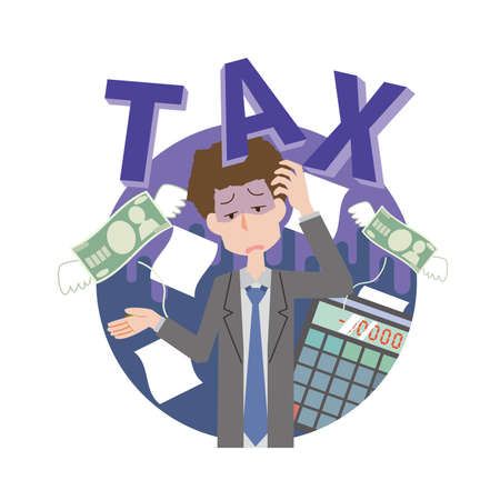 a man who suffers from taxes