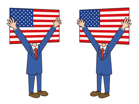 American Flag Character Bagzai Vektorové ilustrace