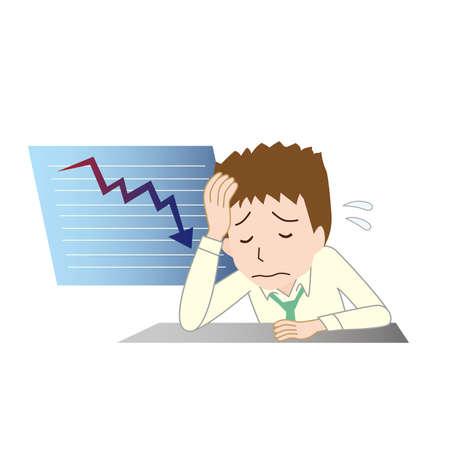 a man lying down as stock prices tumble