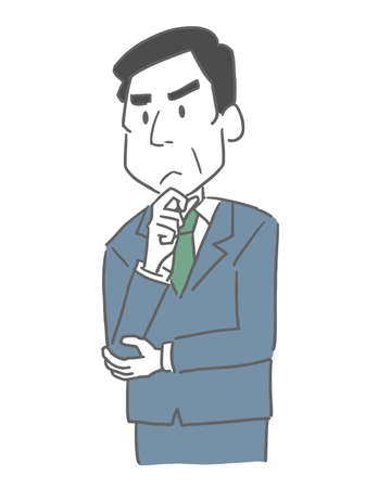 a man in suit thinking