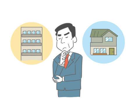 a man who worries about housing