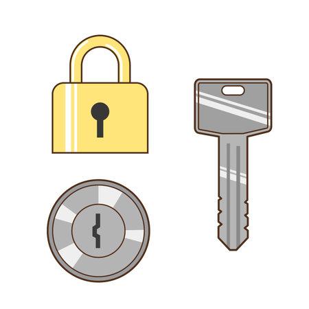 Illustration of keys and locks Stock Illustratie