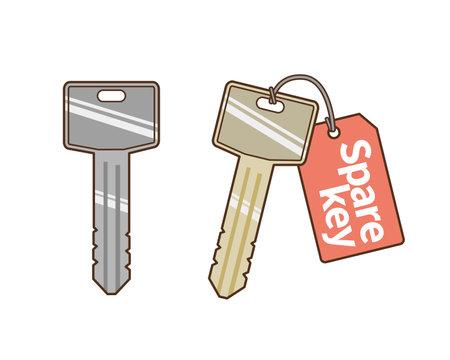 Spare key illustration Stock Illustratie