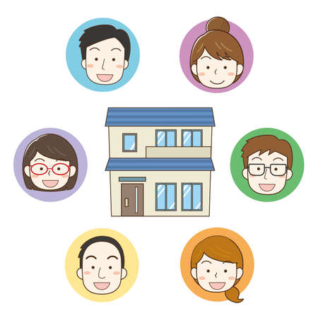 Share house image illustration