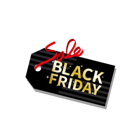 Black Friday Tag Illustration