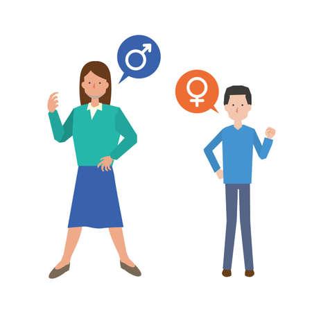 Lgbt and gender image illustrations Ilustración de vector
