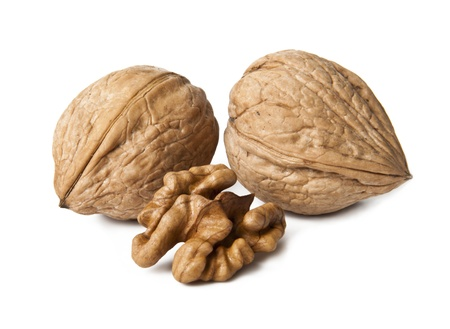 Walnuts on a white background Stock Photo - 14640749